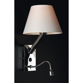 MAXLIGHT 5103WA/WH | OrlandoM Maxlight zidna svjetiljka s prekidačem fleksibilna 1x E27 + 1x LED bijelo, krom