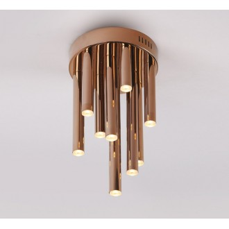 MAXLIGHT C0116 | Organic Maxlight stropne svjetiljke svjetiljka 10x LED 600lm 3000K crveni bakar