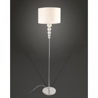 MAXLIGHT F0038 | EleganceM Maxlight podna svjetiljka 160cm s prekidačem 1x E27 bijelo, krom, prozirno