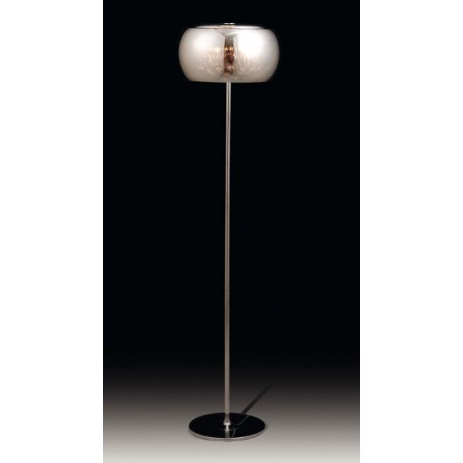 MAXLIGHT F0076-04A | MoonlightM Maxlight podna svjetiljka 158cm s prekidačem 4x G9 krom, prozirno
