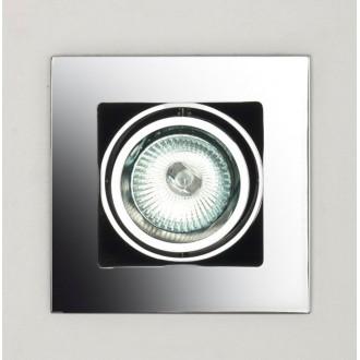 MAXLIGHT H0012 | BoxM Maxlight ugradbena svjetiljka 110x110mm 1x MR16 / GU5.3 krom