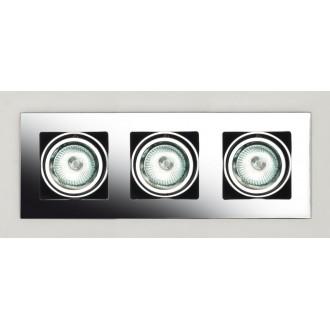 MAXLIGHT H0014 | BoxM Maxlight ugradbena svjetiljka 280x110mm 3x MR16 / GU5.3 krom