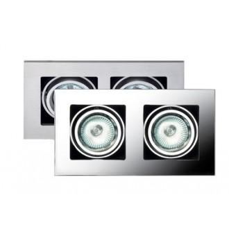 MAXLIGHT H0016 | BoxM Maxlight ugradbena svjetiljka 195x110mm 2x MR16 / GU5.3 poniklano mat