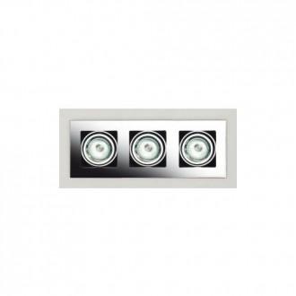 MAXLIGHT H0017 | BoxM Maxlight ugradbena svjetiljka 280x110mm 3x MR16 / GU5.3 poniklano mat