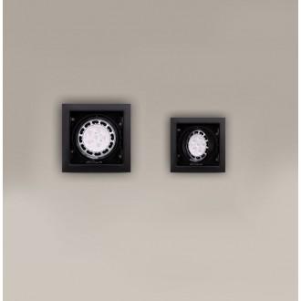 MAXLIGHT H0048 | MatrixM Maxlight ugradbena svjetiljka pomjerljivo 185x185mm 1x G53 / AR111 crno