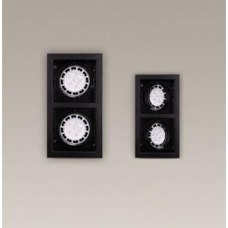 MAXLIGHT H0049 | MatrixM Maxlight ugradbena svjetiljka pomjerljivo 345x185mm 2x G53 / AR111 crno