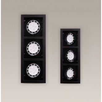 MAXLIGHT H0050 | MatrixM Maxlight ugradbena svjetiljka pomjerljivo 505x185mm 3x G53 / AR111 crno