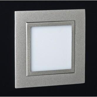 MAXLIGHT LEN.2C | PlanoM Maxlight ugradbena svjetiljka 80x80mm 1x LED 3100K sivo