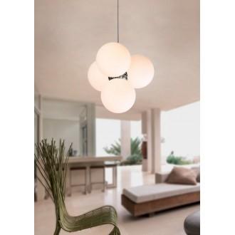 MAXLIGHT P0014 | BallM Maxlight visilice svjetiljka 4x E14 krom, bijelo