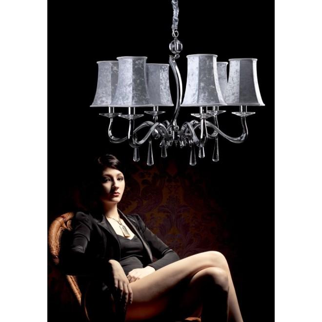 MAXLIGHT P0027 | LondonM Maxlight luster svjetiljka 6x E14 krom, srebrno