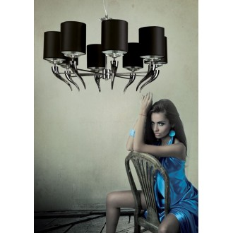 MAXLIGHT P0031   Lanta Maxlight luster svjetiljka 8x E14 krom, crno