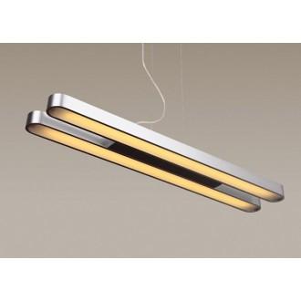MAXLIGHT P0051 | Sparta Maxlight visilice svjetiljka 2x G5 / T5 brušeni aluminij
