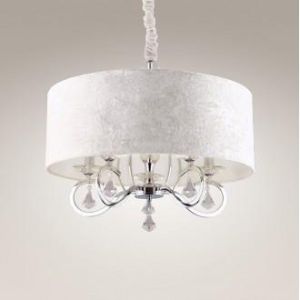 MAXLIGHT P0103 | Amsterdam Maxlight visilice svjetiljka 5x E14 krom, bijelo, prozirno