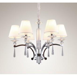 MAXLIGHT P0105 | Lisbona Maxlight luster svjetiljka 6x E14 krom, bijelo, prozirno