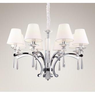 MAXLIGHT P0106 | Lisbona Maxlight luster svjetiljka 8x E14 krom, bijelo, prozirno