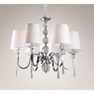MAXLIGHT P0109 | CharlotteM Maxlight luster svjetiljka 6x E14 krom, bijelo, prozirno