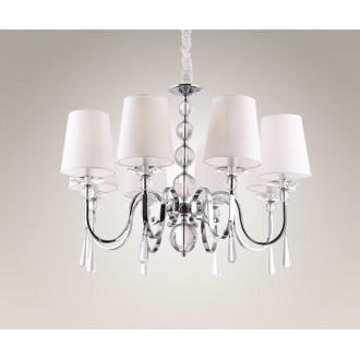 MAXLIGHT P0110 | CharlotteM Maxlight luster svjetiljka 8x E14 krom, bijelo, prozirno