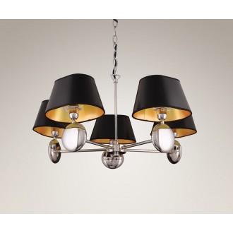 MAXLIGHT P0127 | Napoleon Maxlight luster svjetiljka 5x E14 krom, crno, zlatno