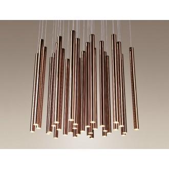 MAXLIGHT P0174 | Organic Maxlight visilice svjetiljka 33x LED 1600lm + 4x LED 600lm 3000K crveni bakar