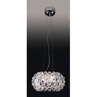 MAXLIGHT P8009-40 | Mirage Maxlight visilice svjetiljka 1x R7s krom, prozirno