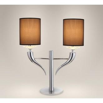 MAXLIGHT T0016   Lanta Maxlight stolna svjetiljka 60cm s prekidačem 2x E14 krom, crno