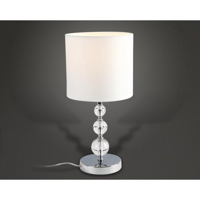MAXLIGHT T0031 | EleganceM Maxlight stolna svjetiljka 45cm s prekidačem 1x E27 bijelo, krom, prozirno