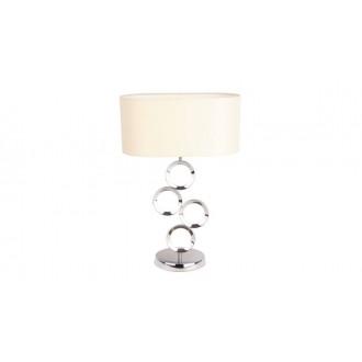 MAXLIGHT T0034 | Olimpic Maxlight stolna svjetiljka 64cm s prekidačem 1x E14 krom, bijelo