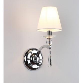 MAXLIGHT W0066 | Lisbona Maxlight zidna svjetiljka 1x E14 krom, bijelo, prozirno