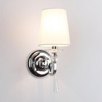 MAXLIGHT W0067 | CharlotteM Maxlight zidna svjetiljka 1x E14 krom, bijelo, prozirno
