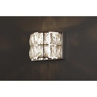 MAXLIGHT W0204 | Diamante Maxlight zidna svjetiljka 1x G9 krom, prozirno