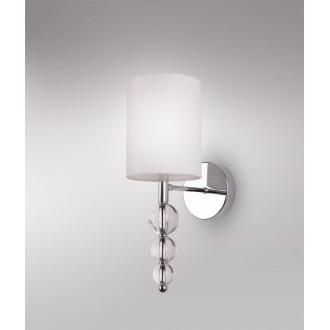 MAXLIGHT W0600 | EleganceM Maxlight zidna svjetiljka 1x E14 bijelo, krom, prozirno