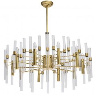 MW-LIGHT 285010910 | Alghero Mw-Light luster svjetiljka 10x E14 4300lm zlatno, prozirno