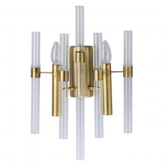 MW-LIGHT 285021002 | Alghero Mw-Light zidna svjetiljka 2x E14 860lm zlatno, prozirno