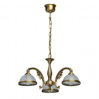 MW-LIGHT 295010903 | Amanda-MW Mw-Light luster svjetiljka 3x E27 1935lm antik bakar, opal