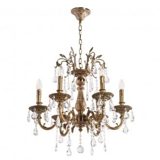 MW-LIGHT 301013506 | Candle-MW Mw-Light luster svjetiljka 6x E14 3870lm antik zlato, kristal