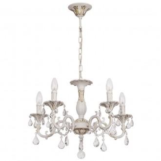 MW-LIGHT 301014605 | Candle-MW Mw-Light luster svjetiljka 5x E14 3225lm antik bijela, kristal