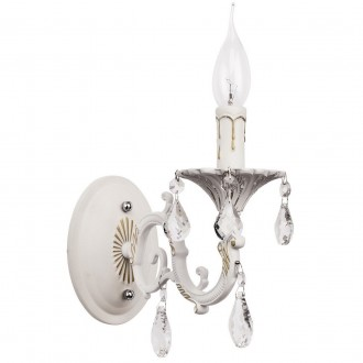 MW-LIGHT 301024501   Candle-MW Mw-Light zidna svjetiljka 1x E14 645lm antik bijela, kristal