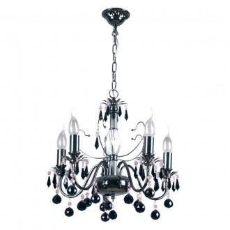 MW-LIGHT 313010105   Barcelona-MW Mw-Light luster svjetiljka 5x E14 3225lm nikel, crno, kristal