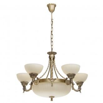 MW-LIGHT 317010708   Aphrodite-MW Mw-Light luster svjetiljka 5x E27 5160lm + 3x E14 antik bakar, bež