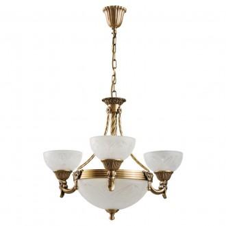 MW-LIGHT 317012006 | Aphrodite-MW Mw-Light luster svjetiljka 3x E27 3225lm + 3x E14 mat zlato, opal