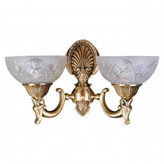 MW-LIGHT 317021902 | Aphrodite-MW Mw-Light zidna svjetiljka 2x E27 1290lm mat zlato, opal