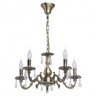 MW-LIGHT 371011905 | Aurora-MW Mw-Light luster svjetiljka 5x E14 3225lm antik bakar, kristal