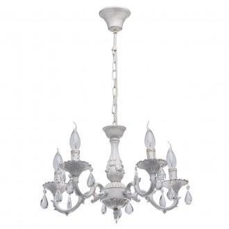 MW-LIGHT 371012605 | Aurora-MW Mw-Light luster svjetiljka 5x E14 3225lm antik bijela, kristal