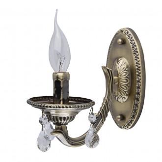 MW-LIGHT 371021501 | Aurora-MW Mw-Light zidna svjetiljka 1x E14 645lm antik bakar, kristal