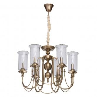 MW-LIGHT 481012606 | Amanda-MW Mw-Light luster svjetiljka 6x E14 2580lm saten brass, prozirno