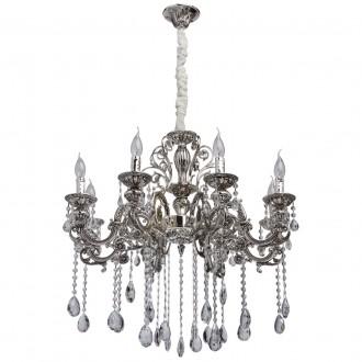 MW-LIGHT 482013708 | Selena-MW Mw-Light luster svjetiljka 8x E14 3440lm srebrno, kristal