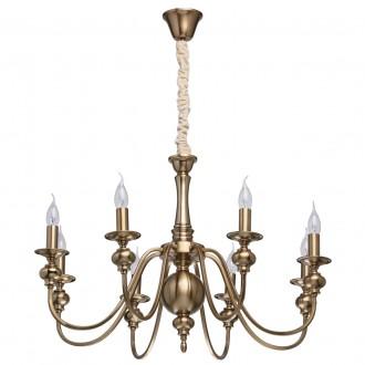 MW-LIGHT 614010608 | Consuelo Mw-Light luster svjetiljka 8x E14 3440lm antik bakar