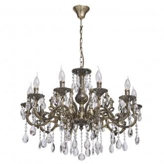 MW-LIGHT 685010110 | Toscana-MW Mw-Light luster svjetiljka 10x E14 4300lm antik bakar, kristal
