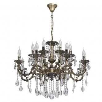MW-LIGHT 685010216   Toscana-MW Mw-Light luster svjetiljka 16x E14 6880lm antik bakar, kristal