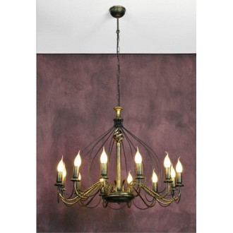 NAMAT 1192 | Claris Namat luster svjetiljka 12x E14 antik brončano